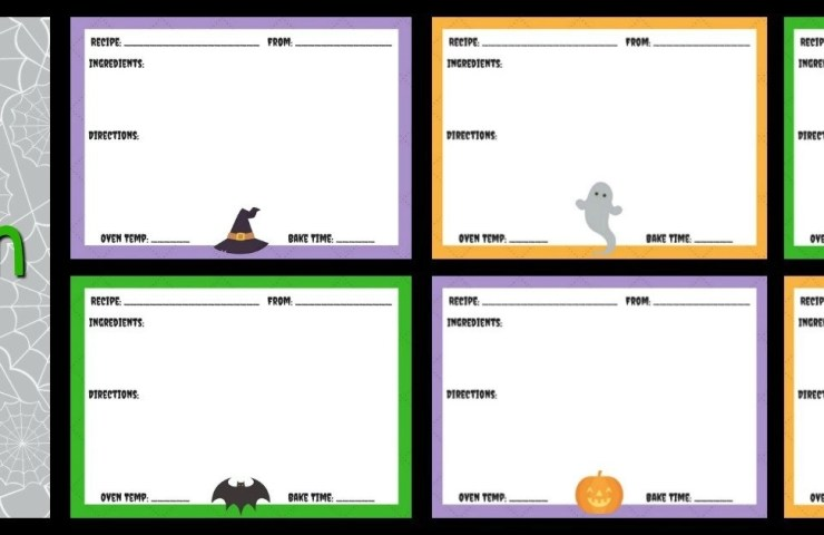 FREE Halloween Recipe Card Printable