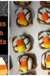 Hershey Kiss Candy Corn Pretzel Melts