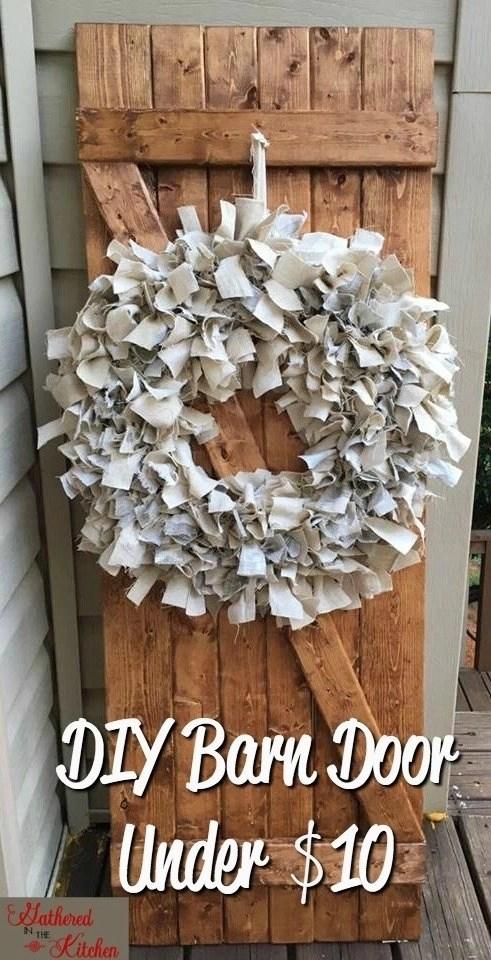 DIY Barn Door Under $10 in 30 Minutes