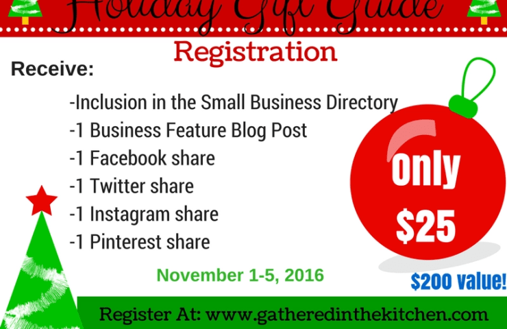 Small Business Holiday Gift Guide 2016 Registration