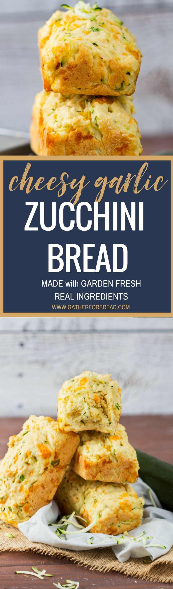 Large Of Zucchini Cheesy Bread
