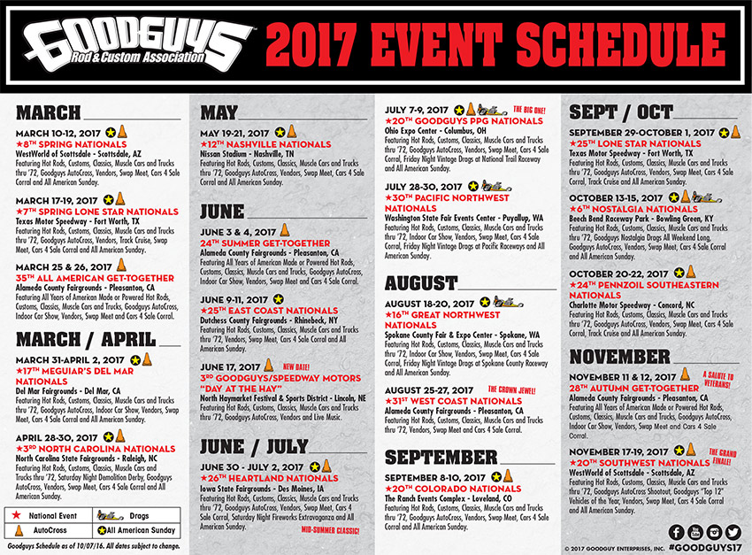 Good Guys Car Show Schedule