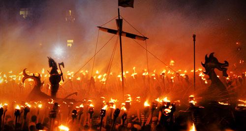Unusual Festivals - Up Helly Aa, Scotland