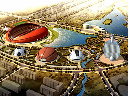 Olympic Park Sports Complex in Huainan City, China