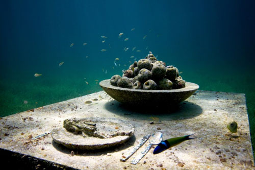 Underwater Museum Cancun Exhibit: The Last Supper