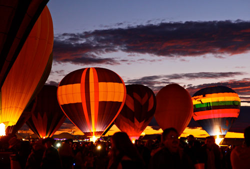 ABQ Balloon Fiesta At Night