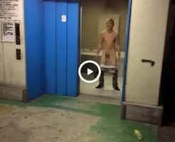 【Vine動画】エレベーターで露出!?金髪やんちゃ男子のはっちゃけた行動がすごいwww