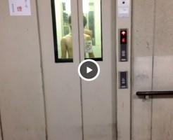 【Vine動画】エレベーターから全裸のスリム系イケメンが「嵐」を踊りながら登場www