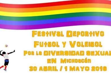 Festival Deportivo Futbol y Voleibol por la Diversidad Sexual – Morelia