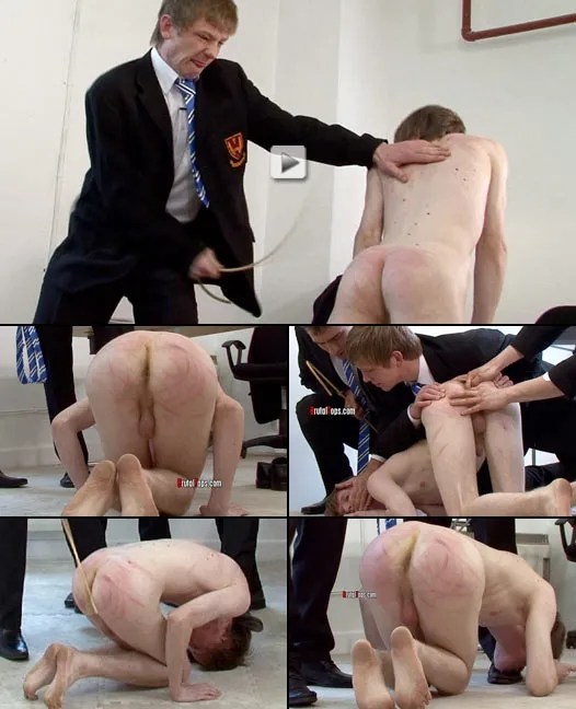 incredibly intense twink schoolboy caning