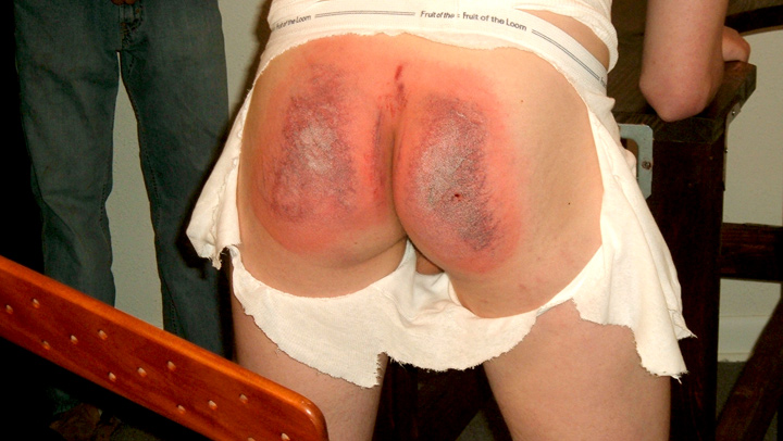 Angel faced lad receives a horrible paddling punishment