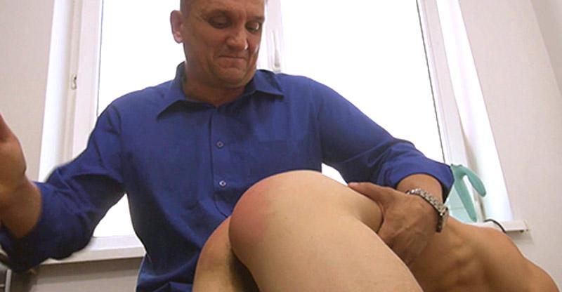 Furious Dad Spanks Masturbating Boy!