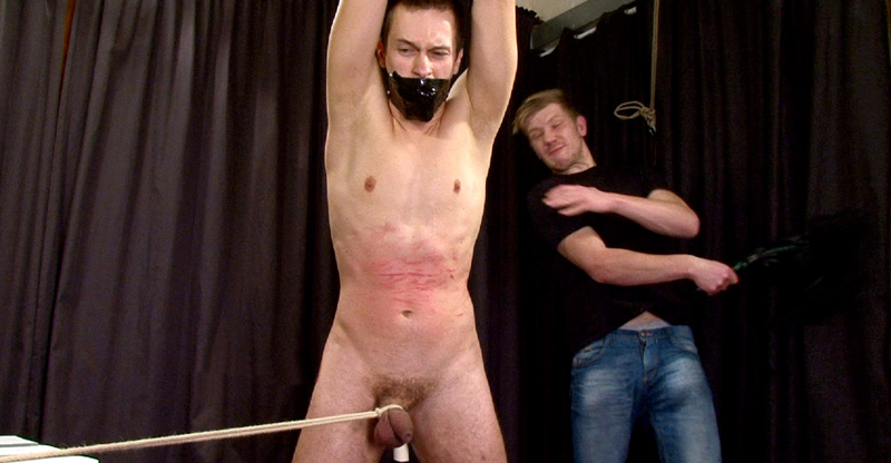Extreme Dungeon Slave-Boy Whipping