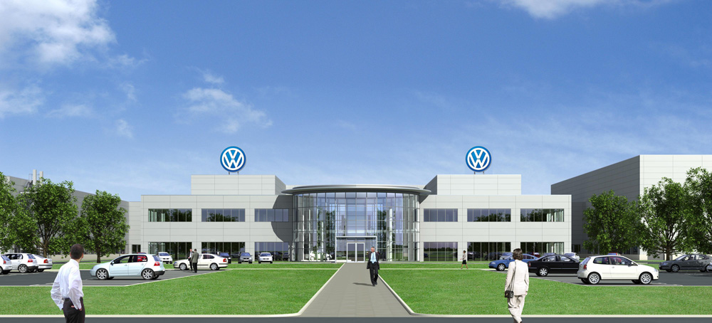 Rendering of Volkswagen's assembly plant in Chattanooga, TN