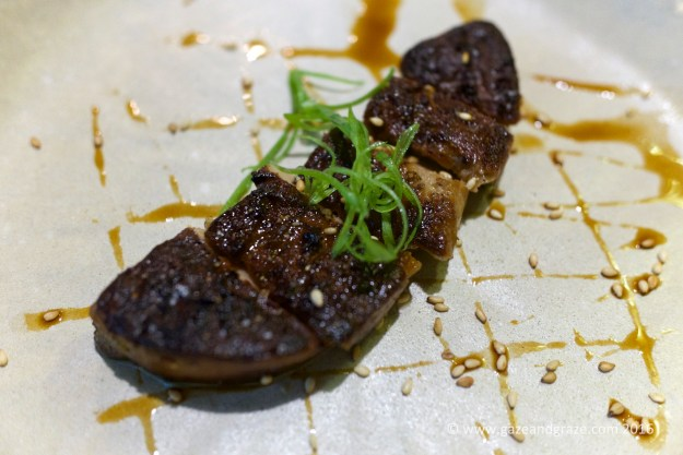 Duck foie gras, the exterior is grilled crispy