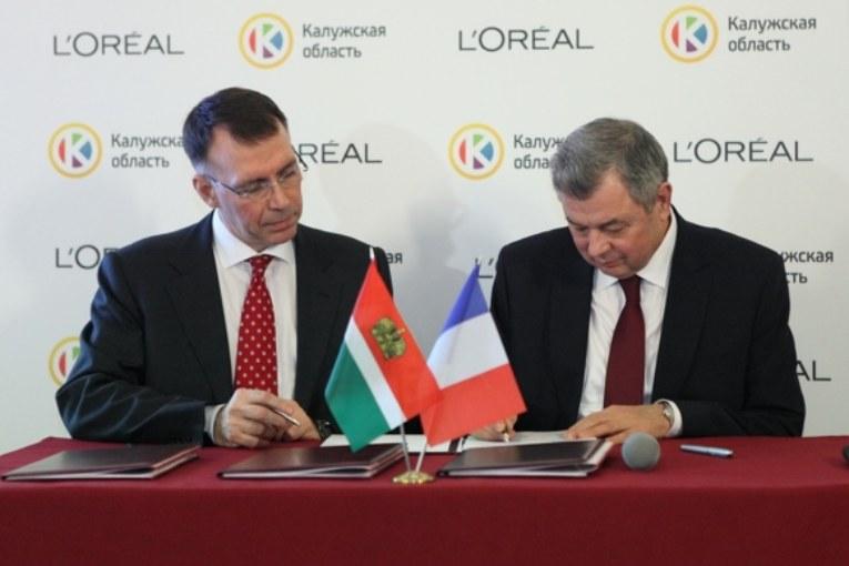 В Москве подписано соглашение между Правительством Калужской области и компанией L'Oréal