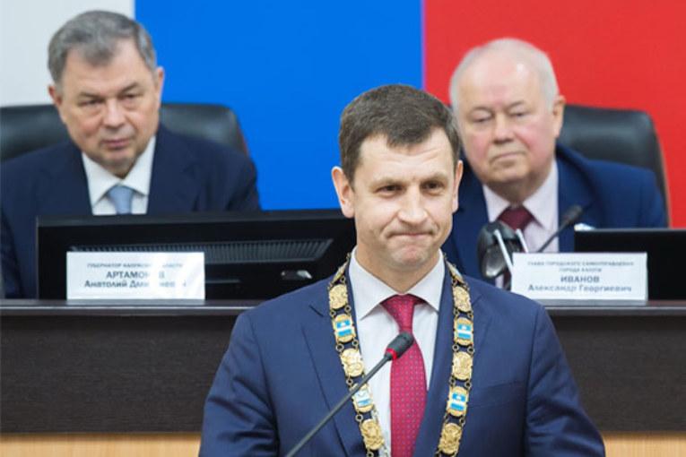 Анатолий Артамонов поздравил  Дмитрия Разумовского с назначением на должность Городского Головы Калуги