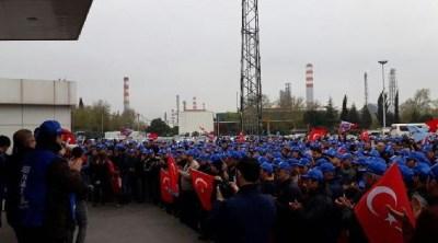TÜPRAŞ'ta işçiler eylemlere devam ediyor | Gazete Manifesto