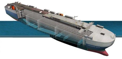 M/V Cougar Ace - Listing Ship