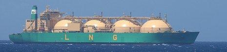 An LNG Ship At Sea