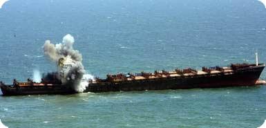 Ship msc napoli salvage explosion