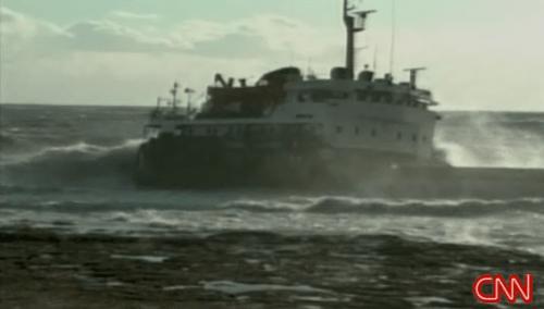 Ship Beached near Russia