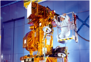 Landsat 7 Satellite Under Construction