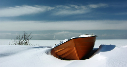 Winter Boat by RamnonaG