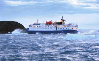 Cruise Ship aground in antarctica