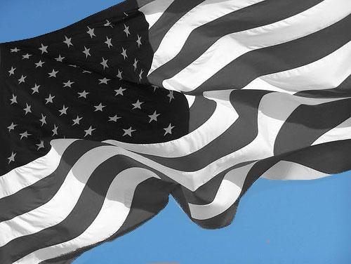 Gray American Flag
