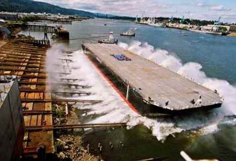 heavy-lift deck barge launch