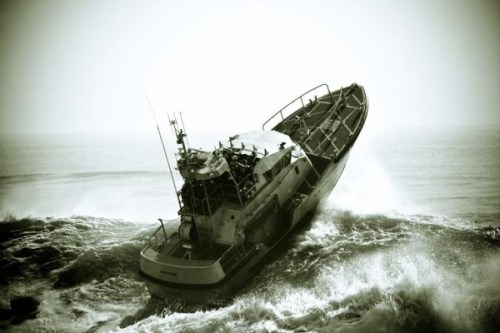 USCG Surf Rescue Boat In Heavy Seas