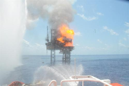 West Atlas Rig Fire 4