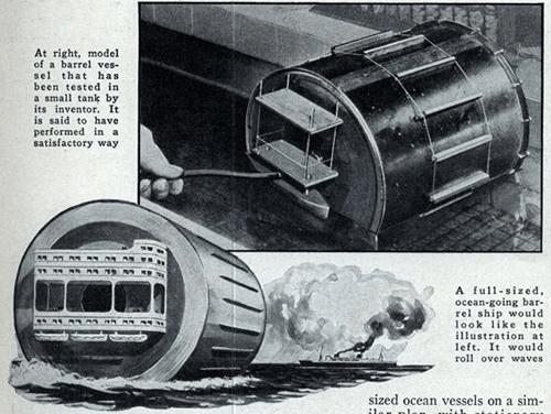 Barrel Ship Of The Future Oceans