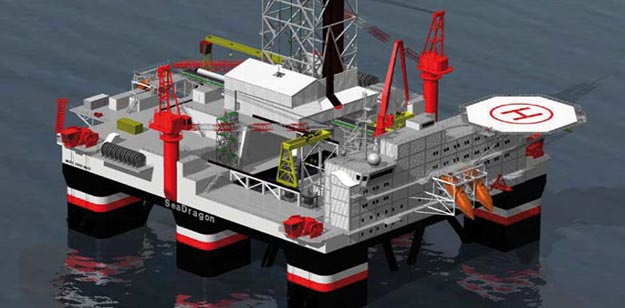 Seadragon Seadrill Semi-Submersible Oil Rig Bought From Vantage Drilling
