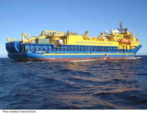 Customs Ship Ocean Viking