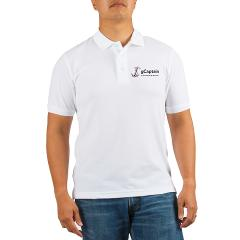 Buy a gCaptain White Golf Shirt