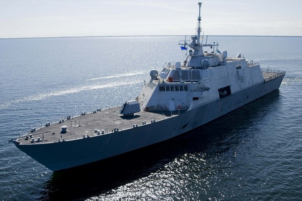 The littoral combat ship USS Freedom (LCS 1) in San Diego in March 2013. U.S. Navy Photo