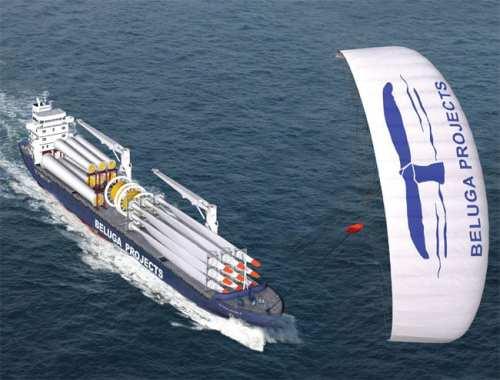 Kite Ship - Wind Powered