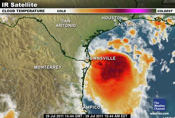 Tropical Storm DON infrared
