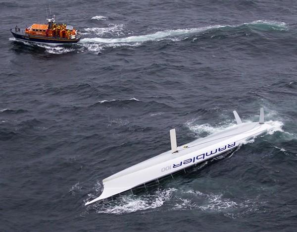 Rambler 100 capsizes fastnet race Carlo Borlenghi