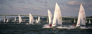 Navy fall Vanguard 420 sailboat racing dinghy dinghies