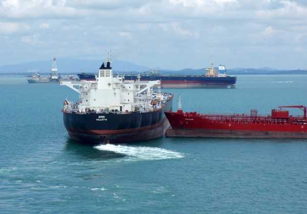 ship collision tankers near miss