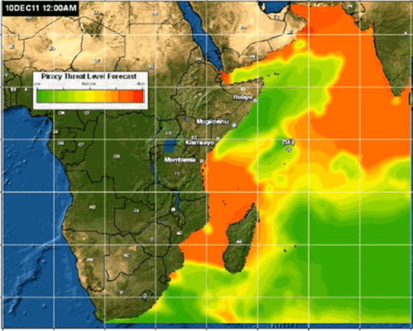 indian ocean piracy forecast