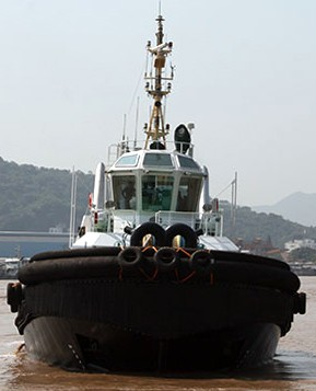 Yong Gang Tuo Robert Allan Naval architects tugboat bow
