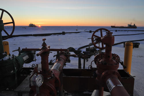 Arctic Nome - TV Renda Fuel Transfer by Petty  Officer 2nd Class Eric J. Chandler.