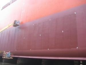 Marine silyl and copper acrylate Paint