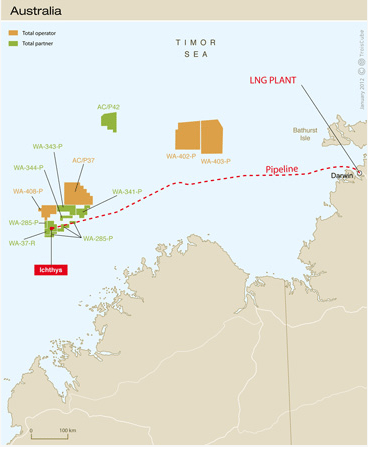 Ichthys strategic offshore LNG Project
