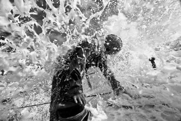 Charles Caudrelier onboard Groupama Sailing Team Volvo Ocean Race