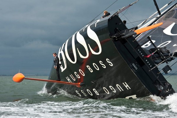 Alex Thomson keel riding hugo boss